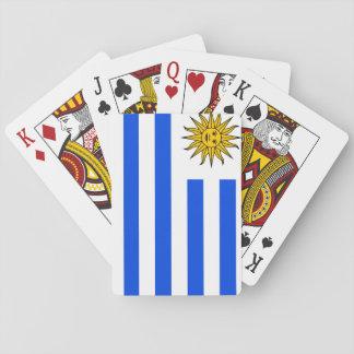 Uruguay som leker kort kortlek