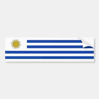 Uruguay/uruguayansk flagga bildekal