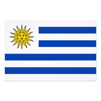 Uruguay - uruguayansk flagga fotontryck