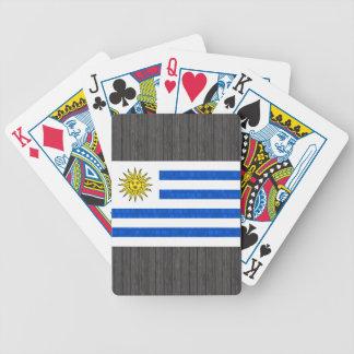 Uruguayansk flagga för modernt mönster spelkort