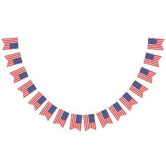 Us-amerikanska flaggan 4th av banret för Juli Vimplar