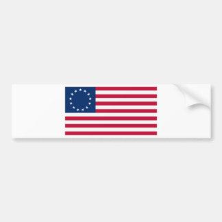 Us-flagga 13 stjärnor Betsy Ross Bildekal