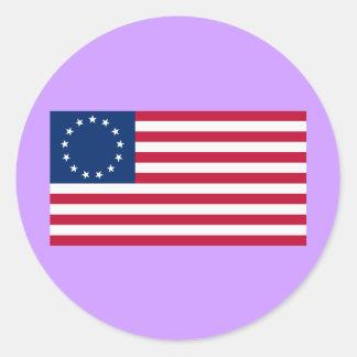 Us-flagga 13 stjärnor Betsy Ross Runt Klistermärke