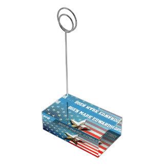Us-flagga Bordskorthållare