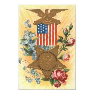 Us-flagga glömmer mig den inte rosa medaljen