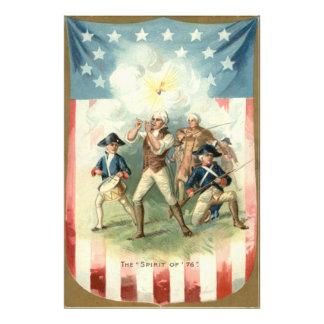 Us-flaggaande av handelsresandepojken för 76 fototryck