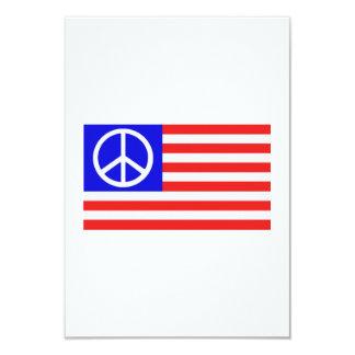 Us-flaggafred 8,9 X 12,7 Cm Inbjudningskort