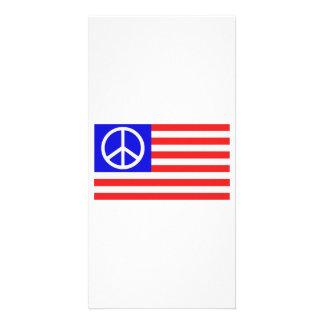 Us-flaggafred Skräddarsydda Fotokort