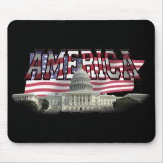 Us-huvudstad som bygger oss flaggamusen, vadderar mus mattor