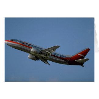 Us-luft 737 hälsningskort