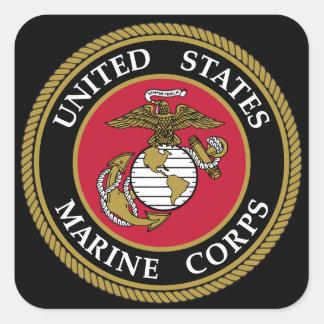 Us-marinkorpralklistermärke Fyrkantigt Klistermärke