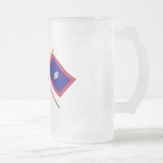 US och Guam korsad flaggor Frostat Ölglas