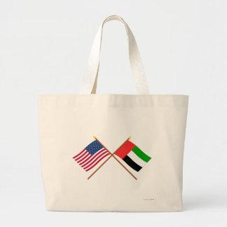 US och United Arab Emirates korsad flaggor Jumbo Tygkasse