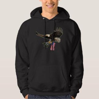 Us-örnt-skjorta Sweatshirt Med Luva