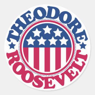 Us-president Theodore Roosevelt Runt Klistermärke