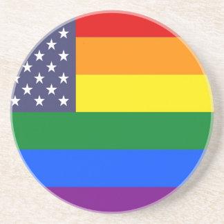 Us-prideflagga Underlägg Sandsten