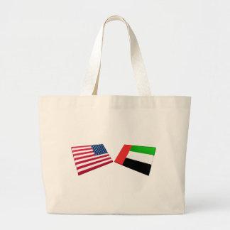 Us- & United Arab Emirates flaggor Jumbo Tygkasse