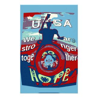 USA 2016 har en trevlig dag starkare Hillary Brevpapper