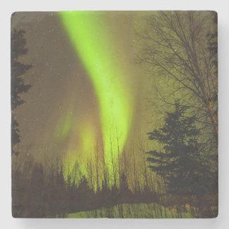 USA Alaska, Chena Hot Springs. Beskåda av aurora Underlägg Sten
