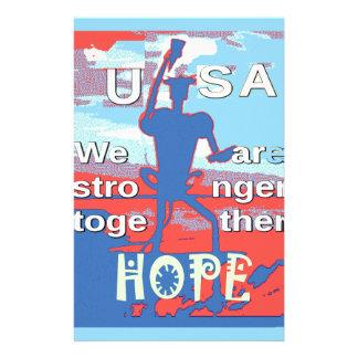 USA älskvärda Hillary blått 2016 är vi starkare Brevpapper