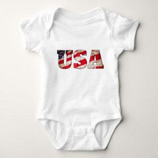 USA (amerikanska flaggan i text) Tshirts