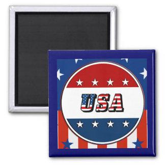 USA - amerikanska flagganstjärnor cirklar magneten