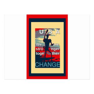 USA ändring - vi är starkare tillsammans Vykort