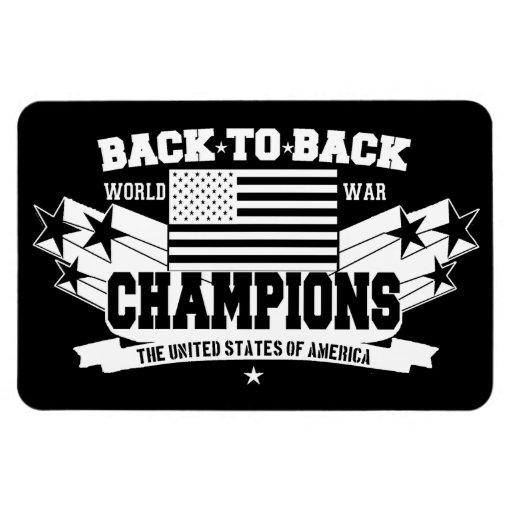 USA baksida som drar tillbaka den patriotiska Rektangel Magnet