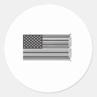 USA Barcode Runt Klistermärke