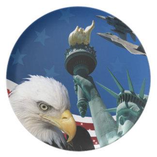 USA COLLAGE TALLRIK