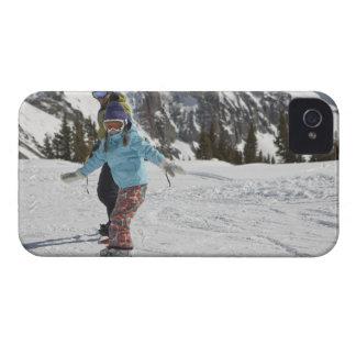 USA, Colorado, Telluride, far och dotter 2 Case-Mate iPhone 4 Fodral