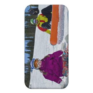 USA, Colorado, Telluride, far och dotter 3 iPhone 4 Hud