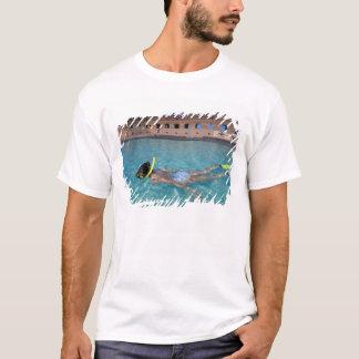 USA FL, Florida nycklar, fort Jefferson, 1846, T Shirts