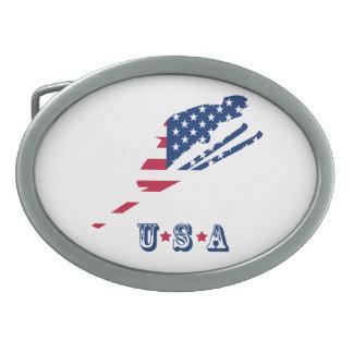 USA flagga av Amerika som skidar amerikan