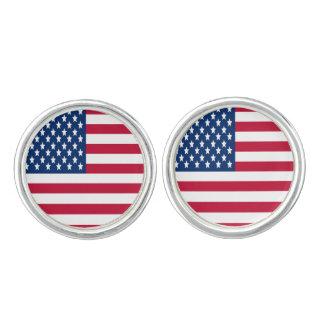 USA flagga av stars och stripes Manschettknappar