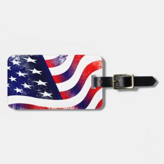 USA FLAGGA BAGAGEBRICKA