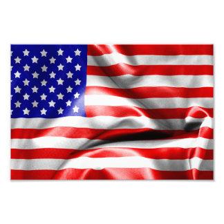 USA flagga Fototryck