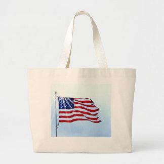 USA flagga i vinden Jumbo Tygkasse