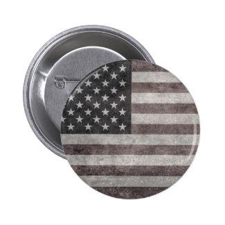 USA flagga Retro amerikanska flaggan för vintage Standard Knapp Rund 5.7 Cm