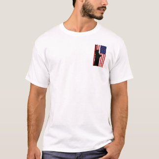 USA flagga - T-tröja för statyfrihetaffisch T-shirt