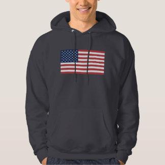 USA flagga Tröja Med Luva