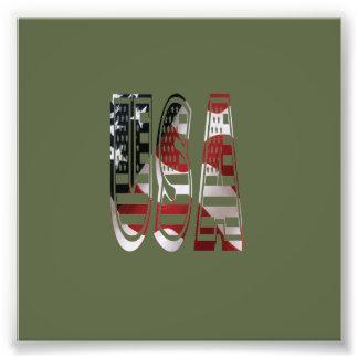 USA flaggaamerikanlogotyp Fototryck