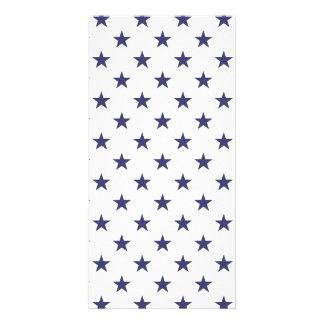 USA flaggablåttstjärnor på vit Fotokort