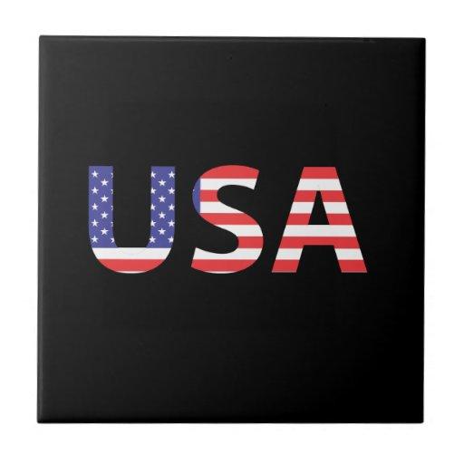 USA flaggabrev Kakelplatta Av Kerami