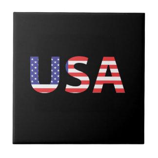 USA flaggabrev Liten Kakelplatta