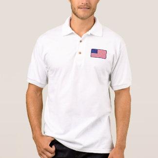 USA flaggagolfpolo Polo Tröja