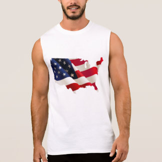 USA flaggakarta Sleeveless Tee
