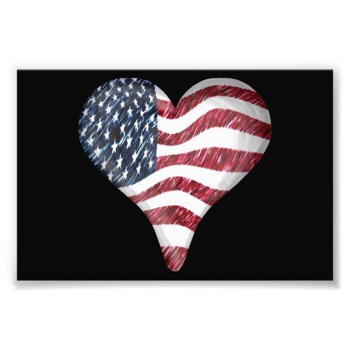 USA flaggan skissar målning Foto
