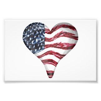 USA flaggan skissar målning Fototryck