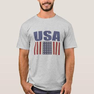 USA flaggatryckutslagsplats T-shirts